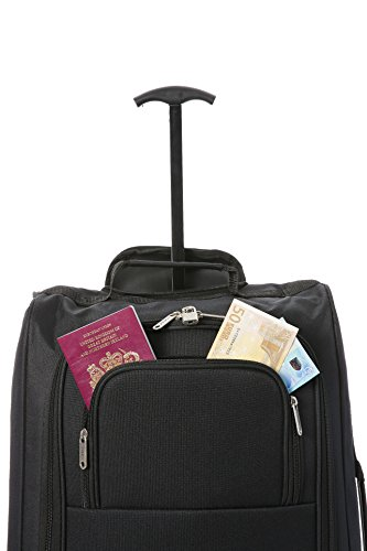 Black On 5 cm Second Luggage Carry Approved Main Cities Cabin 42 L Set Black Ryanair BothHand and 54 UxqTzUFw