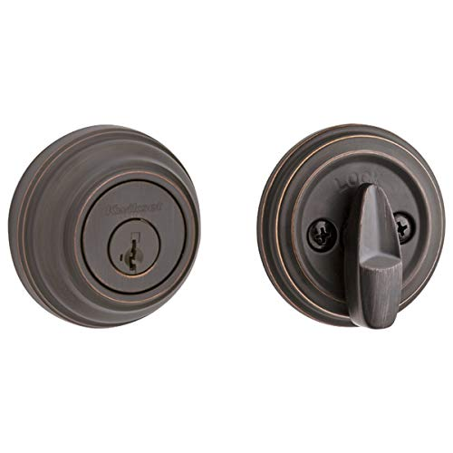 - Kwikset 980 Single Cylinder Deadbolt featuring SmartKey in Venetian Bronze