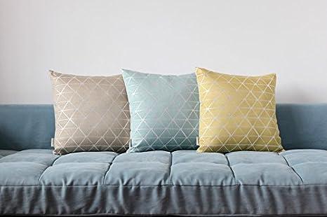 Mika Home Jacquard Triangle Wendedecke Kissenbezug Kissen Für 45,7 X 45,7  Cm Fügt Blau Creme, Polyester Mischgewebe, Color 2, 18X18: Amazon.de: Küche  U0026 ...