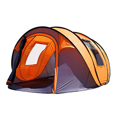 "Oileus Pop up Tents Camping 4 to 6 Person Tent Sky-Window(45""x 25"") Instant Camping Tent 14 Reinforced Steel Stakes &..."