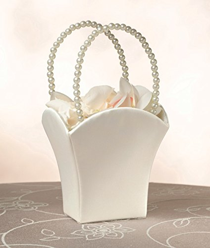Plain Pearl Handle Ivory Flower Basket