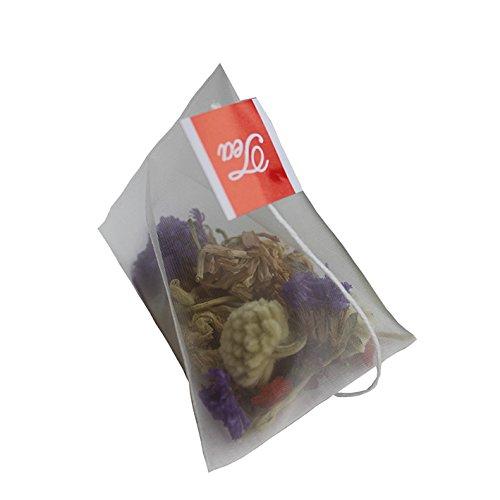 (Lucklovely Empty Heat Sealing Nylon Pyramid Tea Filter Bags for Loose Tea (100) )
