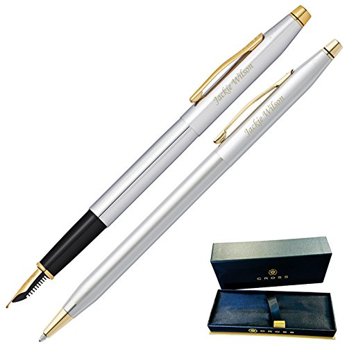 (Dayspring Pens | Engraved/Personalized Cross Classic Century Medalist Fountain and Ballpoint Pen Set. Fast 1 day engraving time.)