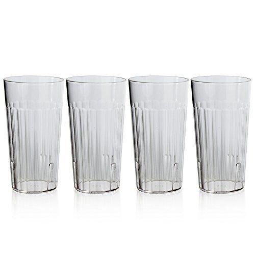 Hurricane Drink Rum - CRYSTAL CLEAR PLASTIC TUMBLERS 16PK Break Resistant Drinking Cups