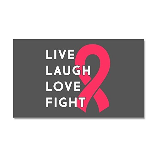 "CafePress - Live Laugh Love Fight - Car Magnet, 20""x 12"" Magnetic Bumper Sticker"