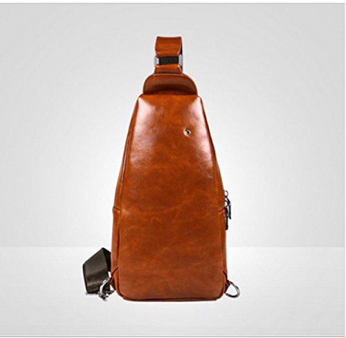 Business Brown Messenger Leisure Travel Men's Multi Bag Backpack purpose Shoulder Laidaye pITAq