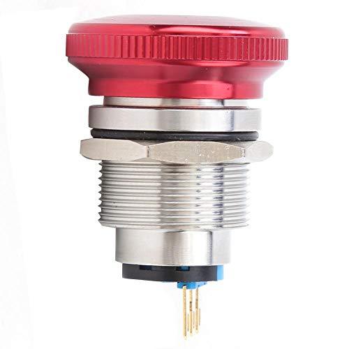20個のプッシュボタンスイッチBEM-22-11ZSDT緊急停止ノブスイッチ、22mm/0.9in取り付け穴に適しています