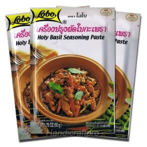 Lobo Thai Seasoning Thai Holy Basil Seasoning Paste 1.76 Oz. (Pack of 3)