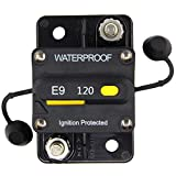 ZOOKOTO 12V- 48V DC 120 Amp Manual Reset Circuit Breaker Waterproof