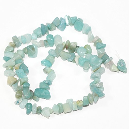 (Top Quality Natural Amazonite Gemstones Smooth Chips Beads Free-Form Loose Beads ~8x5mm Beads (~34 inch))