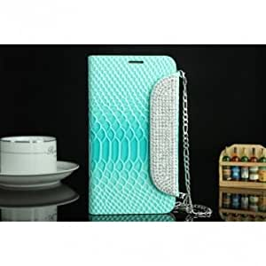 Diamond Luxury Fish Scale Leather Case For Samsung Galaxy Note2 N7100 --- Color:Red