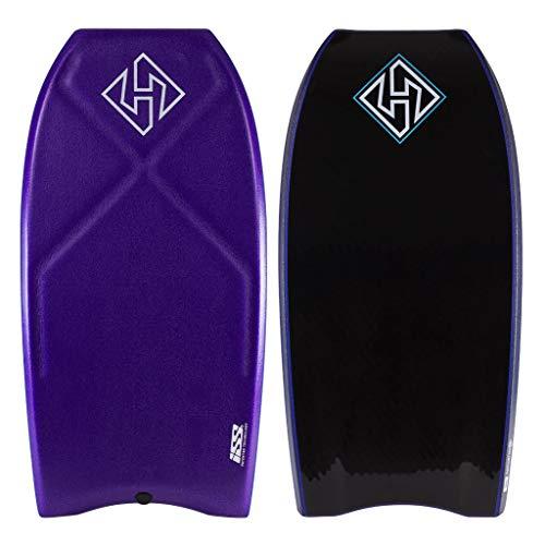 Hubboards Houston Quad Core ISS Bodyboard - Purple/Dark Blue/Black - 42