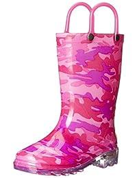 Western Chief Kids Neo Camo Light Up Rain Boots