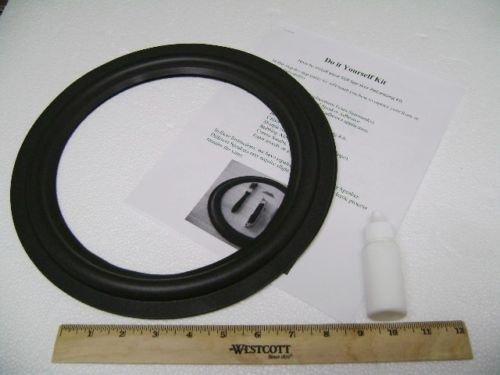(2) 8'' Foam Speaker Surrounds w/Speaker Repair Refoam Instruction & Glue by ZXPC