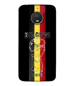ColorKing Football Belgium 01 Black shell case cover for Motorola Moto E4 Plus