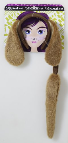 Forum Novelties Unisex Playful Animals Dog Costume Accessory Set,Multi,One (Halloween Costumes Dog Ears And Tail)