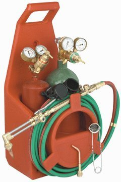 Chicago Electric Welding Systems Portable Torch Kit with Oxygen and Acetylene Tanks