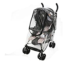 Baby Stroller Waterproof Rain & Wind Shield, Universal Pushchairs Clear Weather Shield Dust Cover (Umbrella stroller U-zipgate)