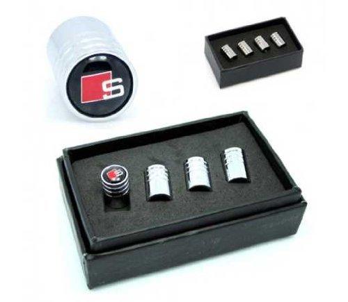 Audi Sline Car Wheel Tire Valve Stem Caps(black)