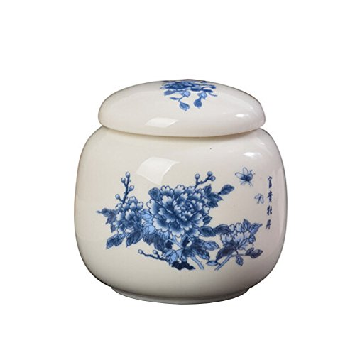 Chinese Style Ceramic Candy Can Tea Storage Container Peony Plowers (Tea Storage Can compare prices)