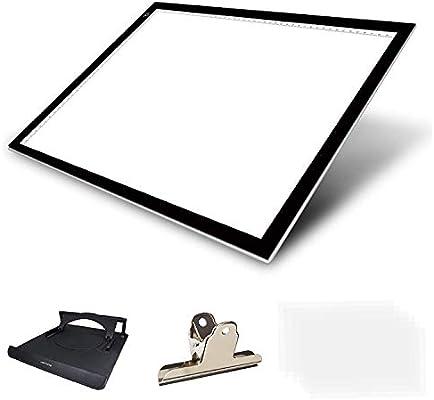 Huion - Plantilla de dibujo con luz LED extra delgada. Tableta con soporte multifunción, caja de luz translúcida.: Amazon.es: Hogar