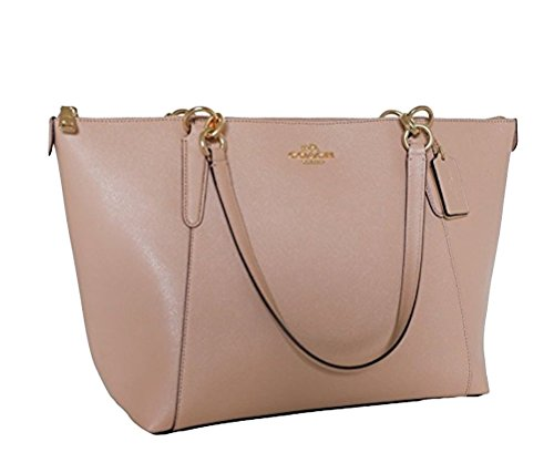 Coach AVA Leather Shopper Tote Bag Handbag (Nude/Pink)