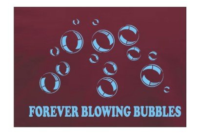 Football i Blowing formati Forever T Shirt Bubbles West Ham disponibili Team Tutti FxqaA