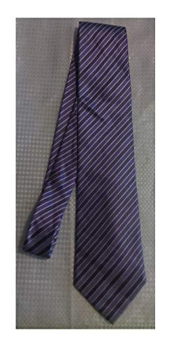 - Stafford Performance Purple Striped Silk Necktie