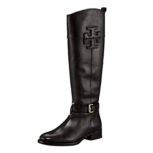 Tory Burch Boots Blaire Riding Boot Veg Leather (8.5, Black)
