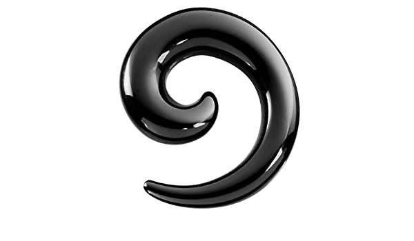Piercing expansor dilatador para la oreja de acrílico negro y con un grosor de 14mm: Amazon.es: Joyería