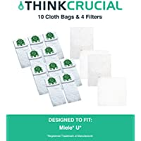 10 Replacement for Miele U HEPA Style Cloth Bags & 4 Micro Filters, Compatible With Part # 07282050, by Think Crucial