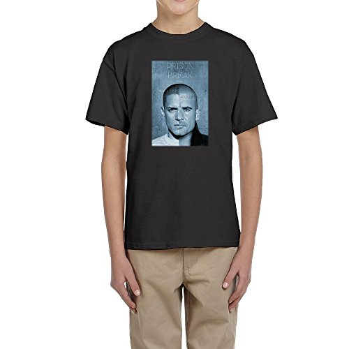Price comparison product image Cool Wentworth Miller Dominic Purcell Poster Round Neck T-Shirt Teens Youth