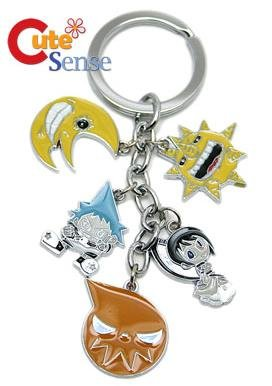 Soul Eater Anime Keychain 5 in 1 metal charm keychain