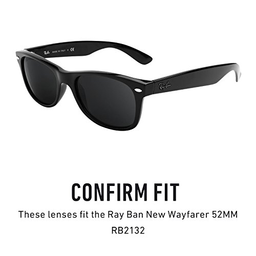 2a28135550b Revant Replacement Lenses for Ray-Ban New Wayfarer 52mm RB2132 Elite Adapt  Grey Photochromic  Amazon.co.uk  Clothing