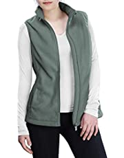Outdoor Ventures Women's Polar Fleece Zip Vest Outerwear with Pockets,Warm Sleeveless Coat Vest for Fall & Winter