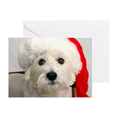 (CafePress - Greeting Cards - Santa Westie - Greeting Card (10-pack), Note Card with Blank Inside, Birthday Card Matte)