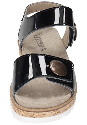 41 EU pour Femme Sandales Comfortabel Noir w1IZYAq