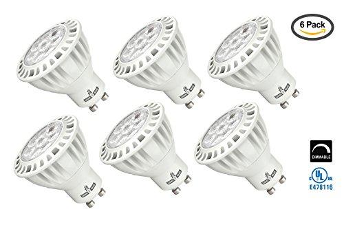 Blue Gu10 Led - Light Blue™ (6-Pack) GU10 MR16 LED Bulbs, 7.5-Watt (50W Halogen Replacement) Soft White 3000K, 38° Flood, 600 Lumens, Dimmable UL-Listed