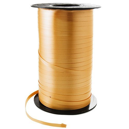 - 3/16 Crimped Curling Ribbon 500 Yards Spool, GOLD Color for Gift Wrapping by UFindings