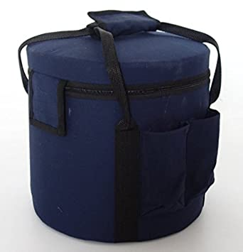 CVNC Dark Blue Color Padded Carrying Case For Crystal Singing Bowl Travelling Bag Putting 6-18 Inch (16 Inch)