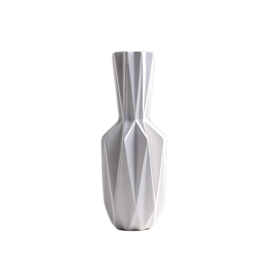 花瓶 セラミック花瓶手作り工芸折り紙モデリングテレビキャビネットテーブルデコレーション(40 * 15 cm) B07RKSQ3T4