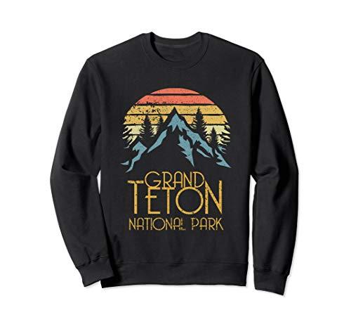 Vintage Grand Teton National Park Wyoming Retro Sweat Shirt