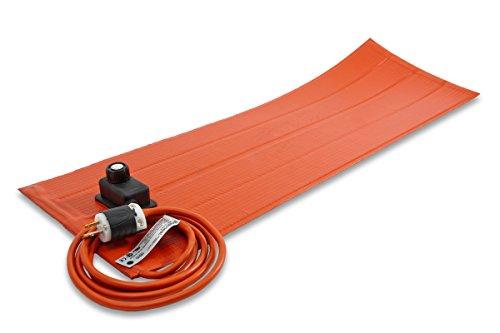 (Brisk Heat SRL06121PADJB SRL-ADJ Heating Blanket with Control and PSA, 180W, 120V, 12