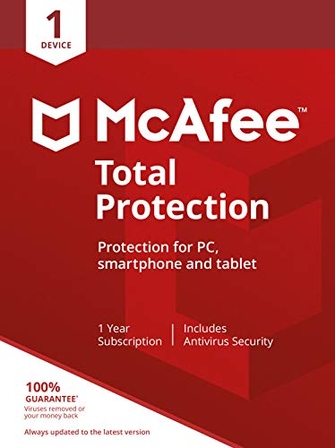McAfee Total Protection 2020 | 1 Device | PC/Mac/Android/Smartphones | Activation code by post|1 Device|1|One time|PC…