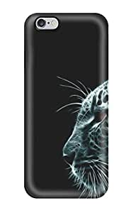 Case Cover White Ghost Leopard With Red Eyes/ Fashionable Case For Iphone 6 Plus