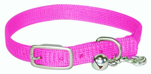 Hamilton 3/8-Inch by 10-Inch Safety Cat Collar with Bell, Hot Pink, My Pet Supplies