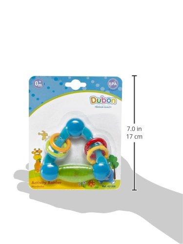 Bebe Dubon Activity Teething Rattle, Newborn, Colors May Vary