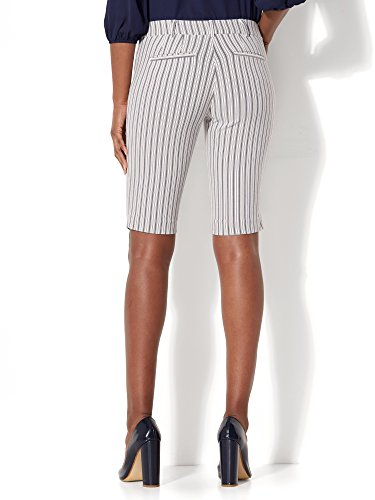 New-York-Co-Womens-7Th-Avenue-Bermuda-Short-Signature-Stripe
