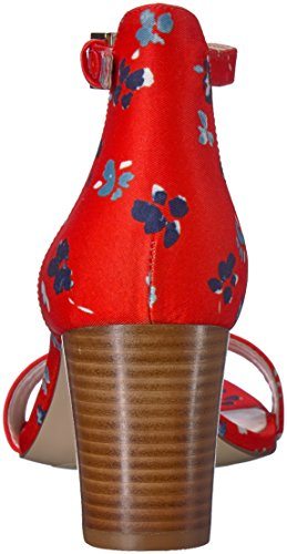 Delle Multi Donne Tacco Tessuto Rosso Tessuto Pruce Nove Sandalo Ovest 1FPnwaqxZ