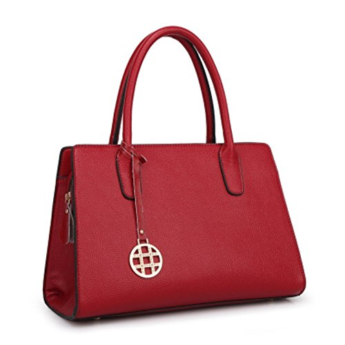 HIFISH HB125183C3 PU Leather Leisure Women's Handbag,Square Cross-Section Tote